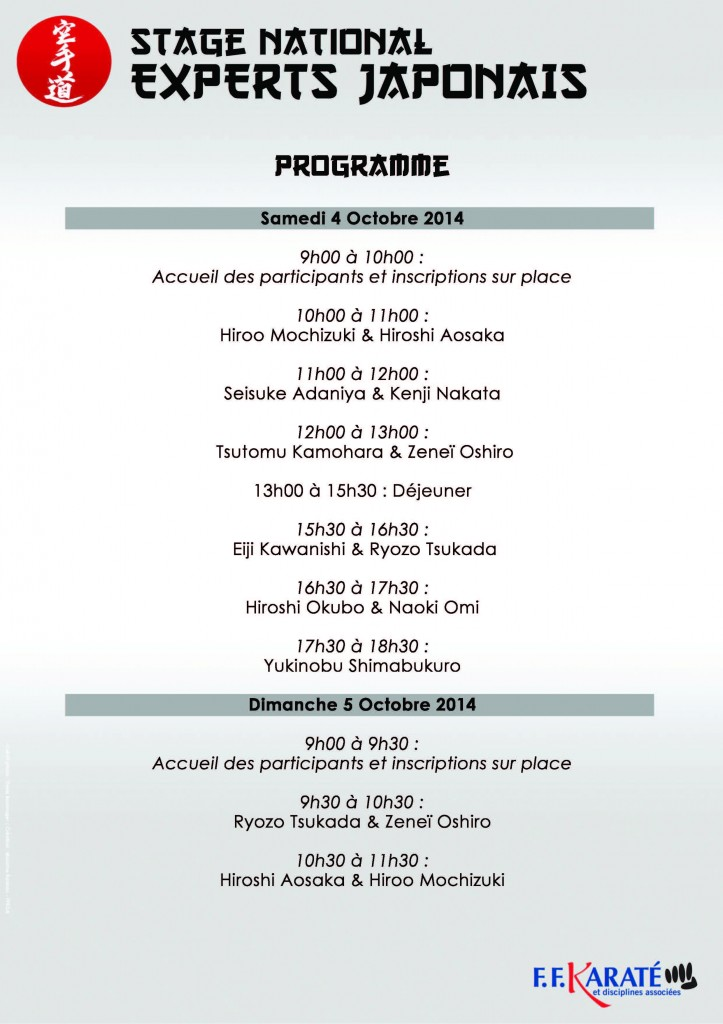 StageNationalExpertsJaponais2014Paris_Prog